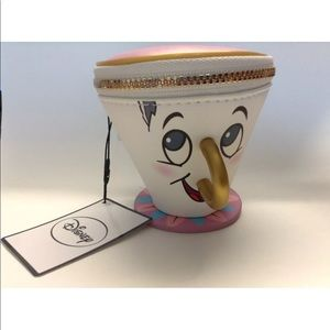 BNWT Chip Cup Coin Purse Beauty And The Beast Primark Disney